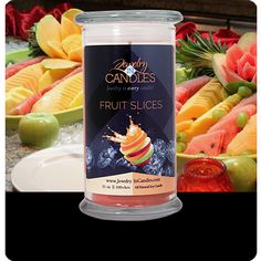 Fruit Slices - In Tarts and Candles A mouthwatering array of candied citrus fruits. Infused with natural essential oils Grapefruit and Tangerine.