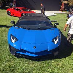 Lamborghini Aventador Super Veloce Roadster painted in Blue Ely  Photo taken by: @salomondrin on Instagram