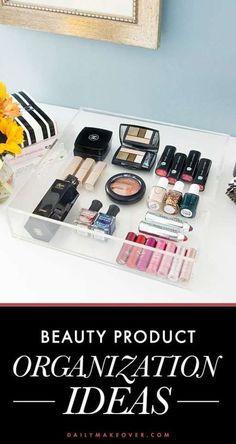 bf0970410eb3 5 Cute Beauty Product Organization Ideas You ll Love