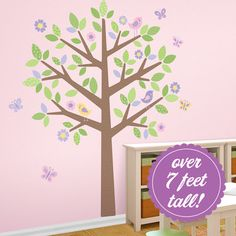 Pattered Heart Tree Wall Decal contemporary-decals