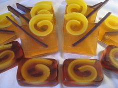 Apple Cider Inspired Melt and Pour Soap Project: Unmolded and Sliced Apple Cider Soap - Ready to Enjoy