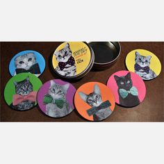 Seriously Cute Cats Coaster Set design inspiration on Fab.