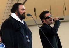 Image result for george michael and pavarotti