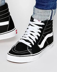 Order Vans sneakers in black online today at ASOS for fast delivery, multiple payment options and hassle-free returns (Ts&Cs apply). Get the latest trends with ASOS. Sneakers N Stuff, Sneakers For Sale, Vans Sneakers, Sneakers Fashion, High Top Sneakers, Mens Vans Shoes, Shoes Sneakers, Sneakers Style, Girls Shoes