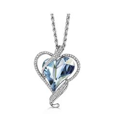 ON SALE Pendant Four Colors Love Heart with Austrian Crystals P014 - Buy one here---> https://www.missfashioned.com/pendant-four-colors-love-heart-austrian-crystals-p014/ - FREE Shipping - #fashion #jewelry #shopping #christmas #missfashioned