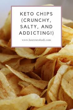 Keto Chips (Crunchy, Salty, and Addicting!) – Let's Do Keto Together! Keto Chips (Crunchy, Salty, and Addicting! Ketogenic Recipes, Low Carb Recipes, Diet Recipes, Healthy Recipes, Recipies, Snack Recipes, Comida Keto, Keto Tortillas, Keto Brownies