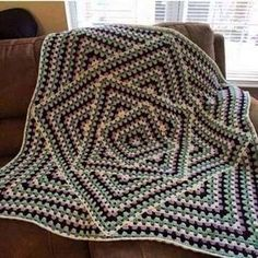 Squared Diamond Granny Throw by Chris Apao