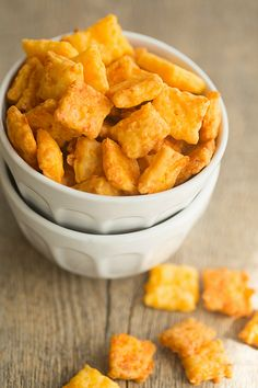 Homemade Cheez-Its | browneyedbaker.com @Michelle Flynn (Brown Eyed Baker)