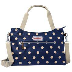 Button Spot Zipped Handbag with Detachable Strap | Cath Kidston |