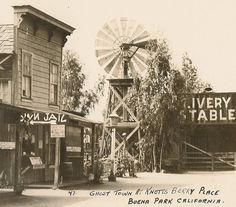 Real Photo Postcard Ghost Town Knotts Berry by BallyDingRevue, $12.00