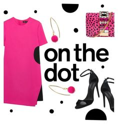"""on the dot"" by janesmiley ❤ liked on Polyvore featuring Dorus Mhor, Versace, GEDEBE and Alexander Wang"