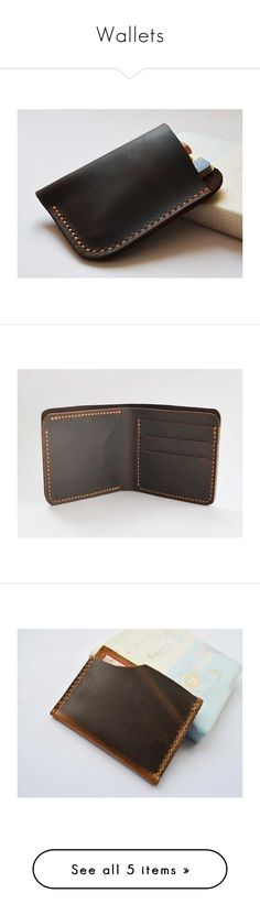 """""""Wallets"""" by chicer-man ❤ liked on Polyvore featuring bags, wallets, 100 leather wallet, leather bags, genuine leather bags, leather wallets, real leather bags, real leather wallets, thin leather wallet and card carrier wallet"""