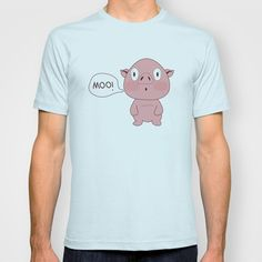 SOLD!! Confused Pig T-shirt by Menaka Neotia - $18.00