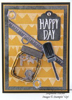 www.thecraftythinker.com.au, Masculine card, Shaker Card, Urban Underground, Jar of Love, #thecraftythinker, Stampin Up