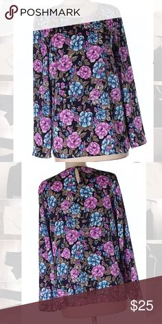 "Ann Taylor Purple Blue Paisley Floral Blouse Sz 4 Excellent condition! Thank you for looking! Chest is 38"" and length is 25"". Ann Taylor Tops Blouses"