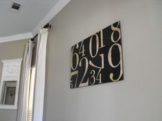 Wallcolor Sherwin Williams - Relaxed Khaki. Love it. Love the sign too.