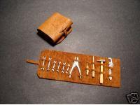 Pocher 1/8 Vintage Leather Tool Kit w/ Metal Tools NR