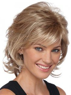 This easy-to-love new SHAG from Estetica Designs styles up with a pick just like you see it. Special Sale price this month. Layered Haircuts With Bangs, Blonde Haircuts, Layered Bob Hairstyles, Short Hair With Layers, Hairstyles Haircuts, Short Hair Cuts, Braided Hairstyles, Short Wavy, Pixie Haircuts