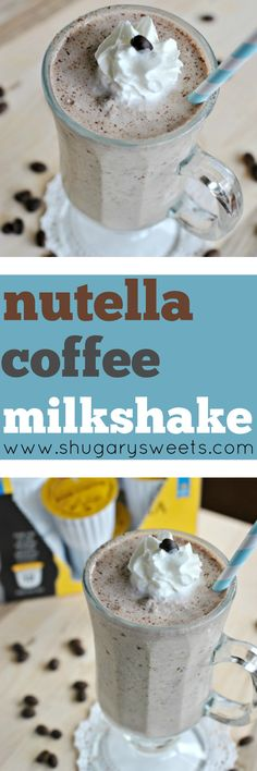 Looking for a mid-afternoon treat? How about whipping up a Nutella Coffee Milksh… Looking for a mid-afternoon treat? How about whipping up a Nutella Coffee Milkshake? It's refreshing and delicious! Nutella Milkshake, Coffee Milkshake, Milkshake Recipes, Milkshakes, Milkshake Drink, Homemade Milkshake, Coffee Drinks, Nutella Recipes, Sweets Recipes