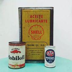 antigua lata de aceite shell