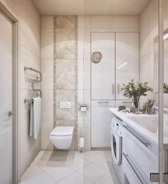 78 Exciting Modern And Luxury Bathroom Design Ideas For Small Bathroom Small Bathroom Floor Plans, Small Space Bathroom, Laundry Room Bathroom, Modern Bathroom Design, Bathroom Flooring, Bathroom Interior, Small Spaces, Interior Paint, Cream Bathroom
