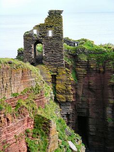 Bucholie Castle (formerly Lambaborg, home of the Viking pirate Sweyn Asleifsson), Freswick Bay, Caithness, Scotland