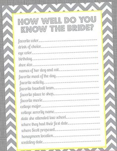 How well do you know the bride