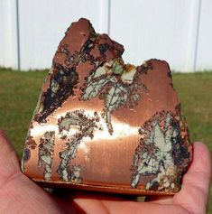 Copper replacement agate (rarest type of agate) from Michigan Visit Amazing Geologist for more.