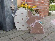 Schokohase und Ei aus Bauholz von schönes aus Holz - made by me auf DaWanda.com