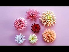 7 modele de crizanteme quilling--7 patterns of quilling chrysanthemums - YouTube
