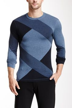 Tonal Geometric Print Shirt by Armani Collezioni on @HauteLook