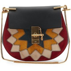 Chloe Drew Small Rosace Star Studded Shoulder Bag ($2,425) ❤ liked on Polyvore featuring bags, handbags, shoulder bags, multi, locking purse, chloe purses, chloe shoulder bag, studded purse and chain shoulder bag