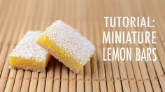 video tutorial: polymer clay lemon bars by FatalPotato.deviantart.com on @deviantART