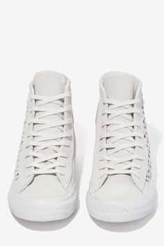 Converse All Star High-Top Suede Sneaker - Woven Gray
