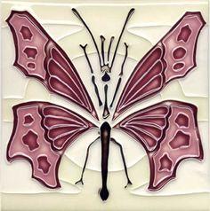 Art Nouveau ceramic tile. If you're into Art Nouveau ceramic, follow the link for a feast for the eyes!