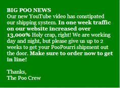 """Are you kidding me?! 13,000% increase in website traffic! That is out of this world!!!!! And again - brilliant brand tone of voice and tying in with the product and it's benefits ! """"...constipated our shipping system."""" """"Holy crap, right!"""" - """"The Poo Crew"""" - this is simply brilliant Tone Of Voice, Poo Pourri, Out Of This World, Holi, How To Get, Website"""