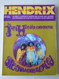 Jimi Hendrix Experience - Are You Experienced? Music Song Book Paperback 1989