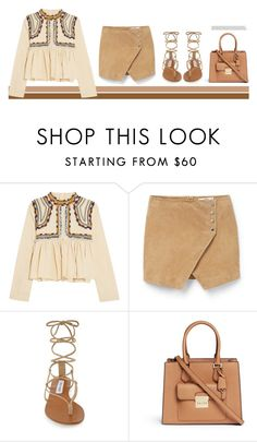 """Untitled #464"" by lovedandforgiven ❤ liked on Polyvore featuring Isabel Marant, MANGO, Steve Madden and Michael Kors"