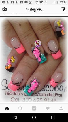 Fashion pink gold nail art awesome french nails entrancing easy to design gallery Butterfly Nail Designs, Butterfly Nail Art, Gel Nail Designs, Cute Nails, Pretty Nails, My Nails, Hair And Nails, Pink Gold Nails, Gold Nail Art