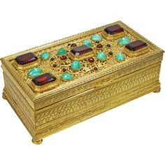 Austrian Bronze Jeweled Box
