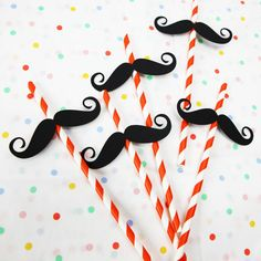 circus theme strong man straws by postbox party | notonthehighstreet.com