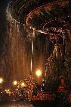 Place de la Concorde Fountain by night ~ Paris