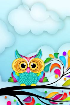 Owl Wallpaper, Butterfly Wallpaper, Iphone Wallpaper, Arabesque, Simple Flower Design, Loteria Cards, Owl Artwork, Project Life Scrapbook, Paper Owls