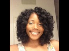 Crochet Braids Using Marley Hair Then Roller Set With