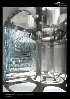 Check out this futuristic interior yacht design. This is a work of art!