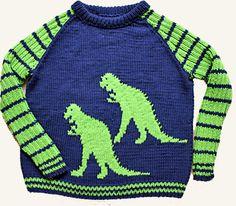 Dinosaur, bomuld p.4 Kids Knitting Patterns, Kids Patterns, Knitting For Kids, Dinosaur Sweater, Tweed, Sweaters, Google, Fashion, Tights