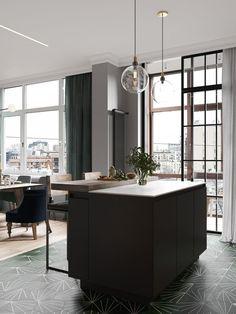 Un appartement en couleurs sombres à St Petersbourg   PLANETE DECO a homes world   Bloglovin'