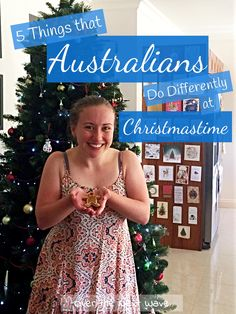 5 Things that Australians Do Differently at Christmastime! Australian Christmas Tree, Christmas Decorations Australian, Summer Christmas, Christmas Vacation, Christmas Trees, Global Holidays, December Holidays, Christmas Destinations, Travel Destinations