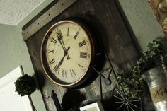 This original Wall Clock Structure was inspired by old window shutters.