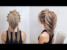Beautiful hairstyles step by step.The Tail Of The Fish - Účesy Open Hairstyles, Vintage Hairstyles, Pretty Hairstyles, Braided Hairstyles, New Bridal Hairstyle, Wedding Hairstyles, Long Hair Wedding Styles, Long Hair Styles, Victory Curls